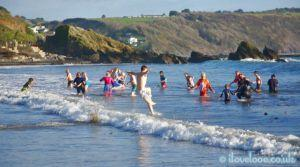 New Years Day Swim Looe