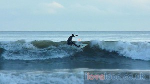 Surfing in Looe